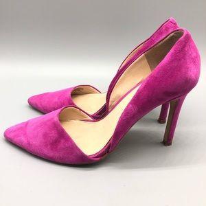 Banana Republic fuchsia suede d'Orsay pumps heels